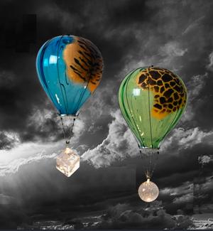 Luftballong Tiger Blå