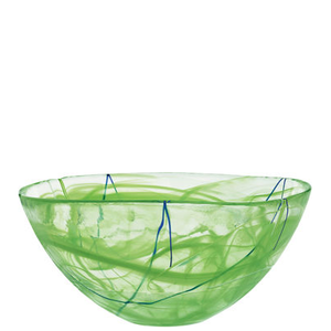 Contrast Skål Lime Stor - Kosta Boda