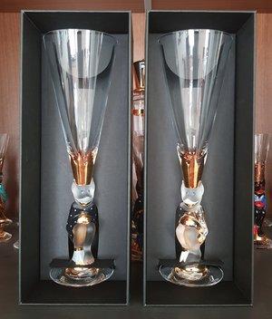 Nobel Djävulsglas Champagne Mörkgrå- Orrefors Champagneglas