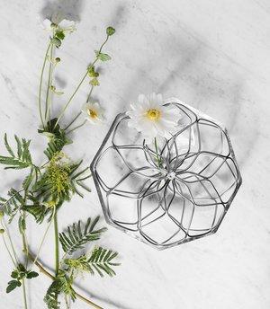 Bloom Vas Klarglas Metall - Orrefors