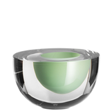 Solid Skål Ljusgrön Klarglas