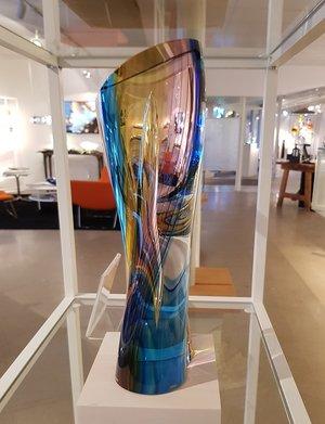 Rainbow Skulptur Röd Gul Blå - Kosta Boda Limiterat