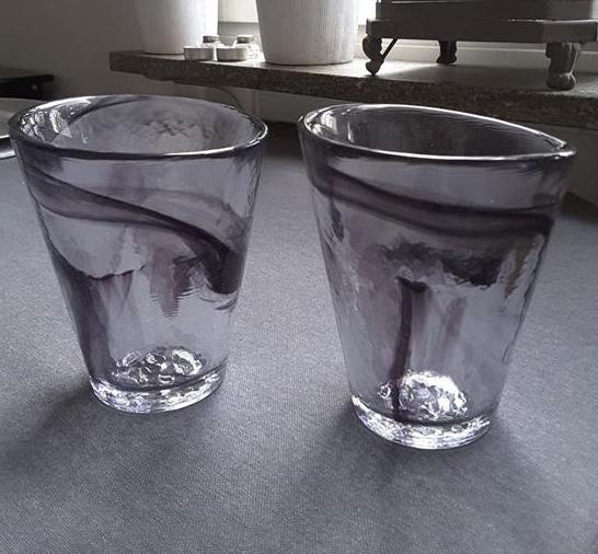 kosta boda mine glas vattenglas tumbler svart svenskt. Black Bedroom Furniture Sets. Home Design Ideas